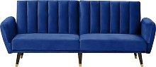 Velvet Sofa Bed Navy Blue VIMMERBY