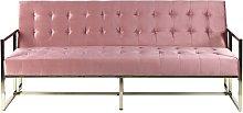 Velvet Sofa Bed Pink MARSTAL