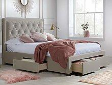 Velvet Storage Bed, Happy Beds Woodbury Fabric