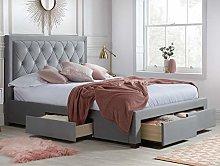 Velvet Storage Bed, Happy Beds Woodbury Grey