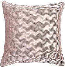 Velvet Wave Cushion - Pink