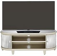 Venetian 2 Door Curved Glass Tv Unit - Fits Up To