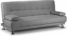 Venice Faux Leather Clic-Clac Sofa Bed - Grey