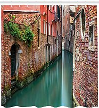 Venice Shower Curtain Scenic Canal Buildings Print