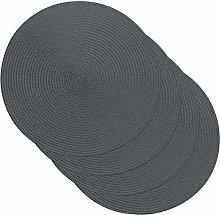 Venilia 59124 Grey Round Placemat Table Linen