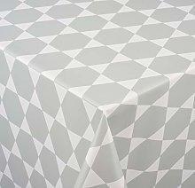 Venilia Oilcloth Tablecloth with Caline Print Grey