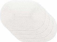 Venilia Set of 4 Cream Oval Placemats Table Linen