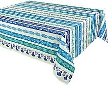Vent du sud 250EBARBEB Acrylic Coated Tablecloth
