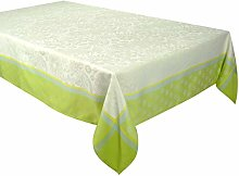 Vent Du Sud Table Cloth, Lime Green, 150 x 250 cm