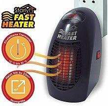 Venteo Chauffage rapide Fast Heater Indoor Black