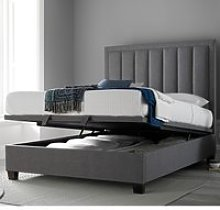 Ventura Grey Fabric Ottoman Storage Bed - 4ft6
