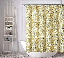 Vera Neumann shower curtain, Grey-Yellow, 70x72