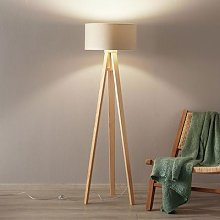Verbena floor lamp gold with fabric lampshade
