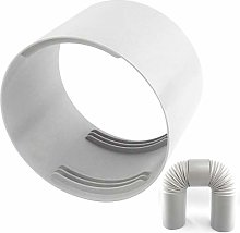 Verliked Air Conditioner Hose Fan Ducting, 13/15cm