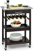 Vermont Kitchen Wagon Serving Trolley Drawer Wine