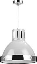 Vermont Pendant Light - Light Grey and Chrome