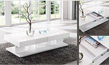 Verona Storage Coffee Table In High Gloss White