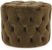 Veronica Footstool Canora Grey Upholstery: Cedar