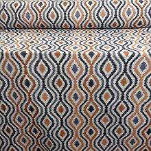 Verrusio Batik Blue/Copper Spice Jacquard Curtains