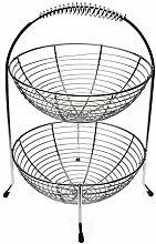 Versa 10030256 Chrome Fruit Bowl Two Heights Steel