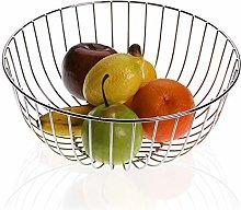 Versa 10035215 Round Chrome Steel Fruit Bowl
