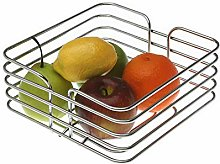 Versa 19530200 Square Chrome Steel Fruit Bowl