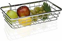 Versa 20330501 Rectangular Chrome Steel Fruit Bowl