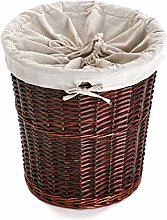 Versa 20890071 Wicker Laundry Basket, Brown, 40 x