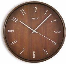 Versa Dark Wood Kitchen Clock 30C