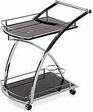 Versa Driana Serving Trolley with Wheels, Glass