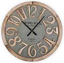 Versa Wall Clock, Metal, Brown, 60 x 5 x 60 cm