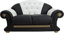 Versace 2 Seater Sofa Settee Genuine Italian Black
