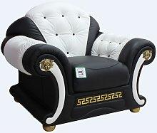 Versace Armchair Sofa Genuine Italian Black White