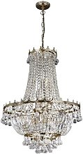 Versailles Gold Nine Light Chandelier Trimmed With