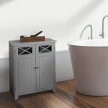 Versanora Bathroom Dawson Grey Wooden Free