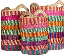 Versmissen - 3/set Multicolor Seagrass Basket