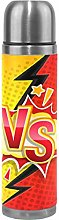 Versus Yellow Red VS Thermos Sport Water Bottle
