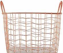 Vertex Wavy Grid Rectangular Wire Basket Strong