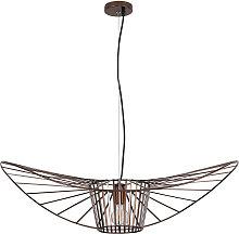 Vertical Hanging Lamp 100cm - Metal Brown