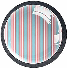 Vertical Stripe Pattern Blue Pink White Cabinet