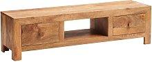 Verty Furniture - Dakota Light Mango Plasma Media