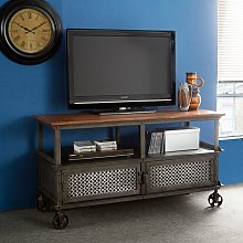 Verty Furniture - Urban Industrial TV Media Unit