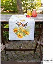 Vervaco Aida Counted Table Runner Embroidery Kit,