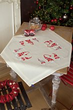 Vervaco Christmas Elves Tablecloth Embroidery Kit