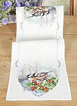 Vervaco Counted Cross Stitch Kit: Runner: Coal