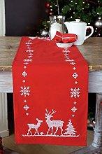 Vervaco Embroidery Kit: Runner: Christmas Deer,