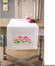Vervaco Embroidery Kit: Runner: Geraniums, N\A, 40