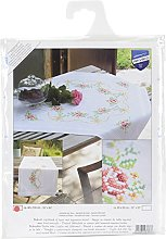 Vervaco Embroidery Kit: Runner: Rose Garland, NA,
