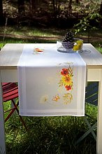 Vervaco Embroidery Kit: Runner: Sunflowers and