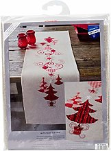 Vervaco Embroidery: Runner: Christmas Decs, 100%